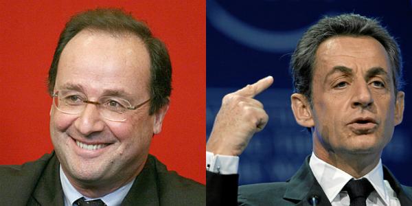 François Hollande och Nicolas Sarkozy. Bild: Flickr