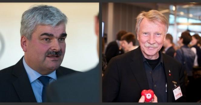 Håkan Juholt och Ilmar Reepalu. Bild: Socialdemokrater och tobias.bjorkgren/Flickr