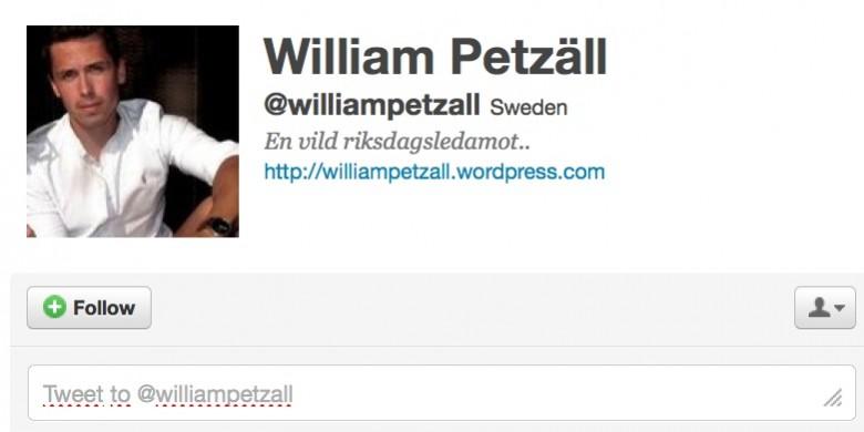William Petzäll. Bild: Twitter