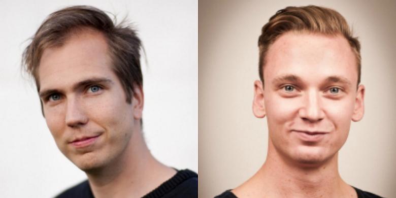 Magnus Nilsson, förbundsordförande S-studenter, och Axel Lindersson, förbundssekreterare S-studenter.