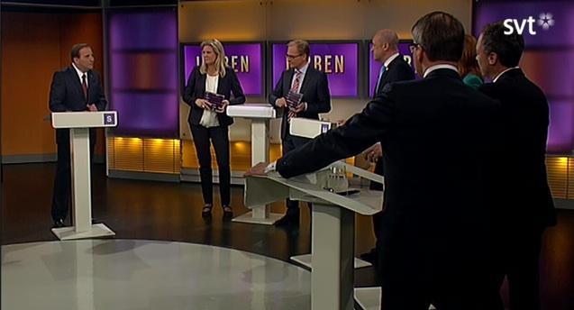 Skärmdump från partilhttp://www.dagensarena.se/wp-admin/media-upload.php?type=image&tab=library&post_id=34781&post_mime_type=&s=debatt&m=0#edardebatt i SVT Agenda våren 2012