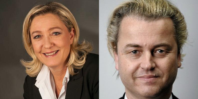 Marine Le Pen och Geert Wilders