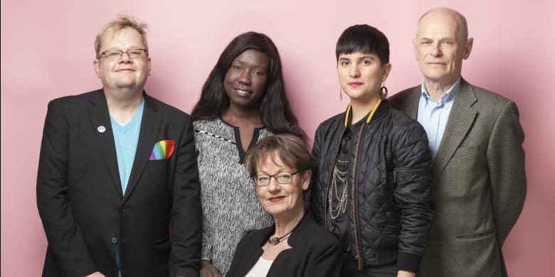 Feministiskt initiativs topp fem riksdagsvalskandidater Bild: Pressbild