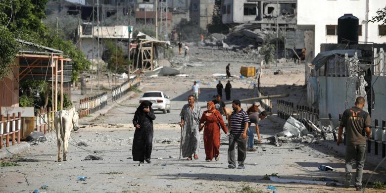 Tolv palestinier dodade i flyktinglager i gazaremsan