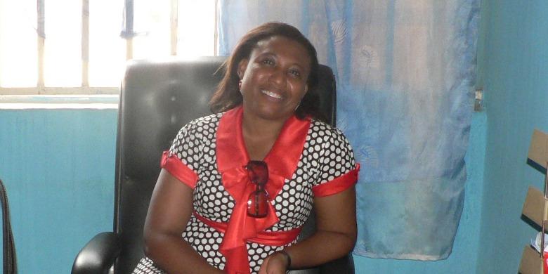 Joy Onyesoh, ordförande Internationella Kvinnoförbundet för Fred och Frihet, IKFF, Nigeria