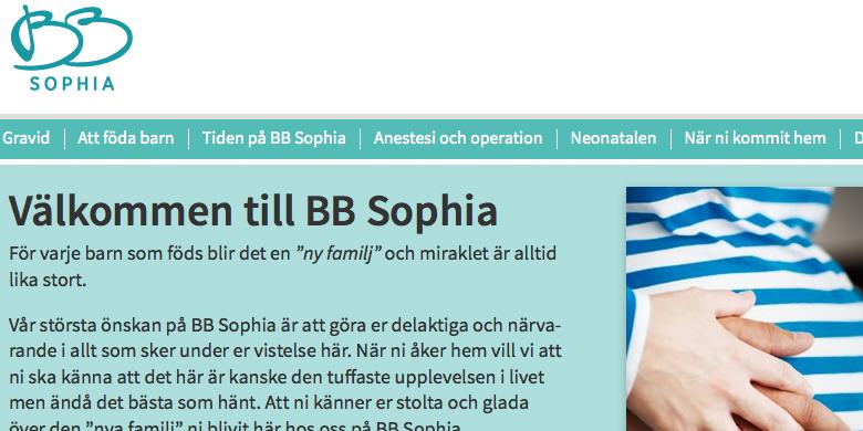 Bb sophia kan oppna under 2014