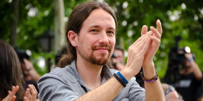 Pablo Iglesias Turrión, talesperson för Podemos Foto: Ahora Madrid/Flickr