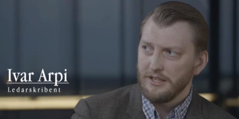Ivar Arpi. Foto: Skärmdump Utbildningsradion från De obekväma.