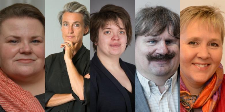 Maria Johansson, Maria Persdotter, Amanda Lindberg, Håkan Thomsson, Lise Lidbäck.