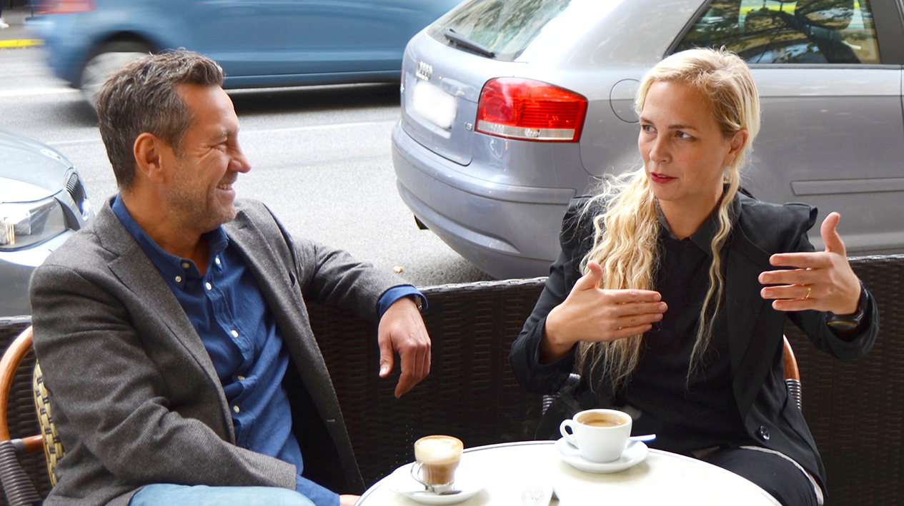 Sandro Scocco och Jenny Lindahl