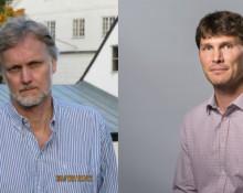 Nils Gottfries professor i nationalekonomi, Uppsala Universitet tv. Torbjörn Halldin, prognosansvarig Svenskt Näringsliv th
