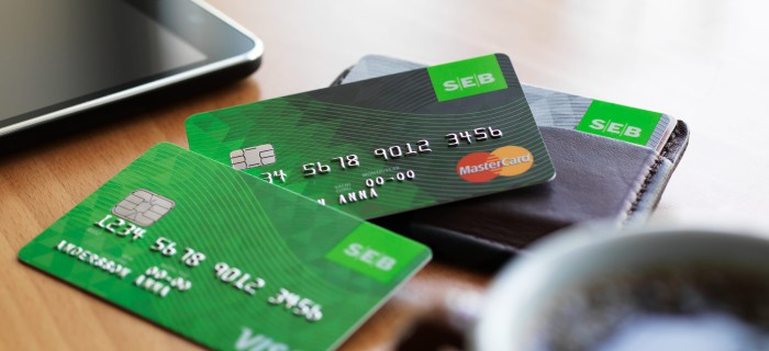 SEB bankkort. Bild: SEB