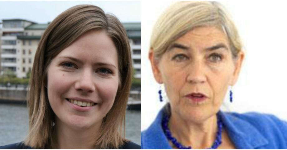 Charlotte Lind, kommunikatör för Operation 1325, och Eva Zetterberg, ordförande för Operation 1325