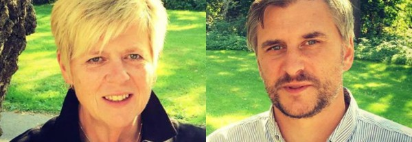 Birgitta Almroth, vice ordförande LO-distriktet i Skåne och Magnus Alm, ordförande LO-distriktet i Skåne