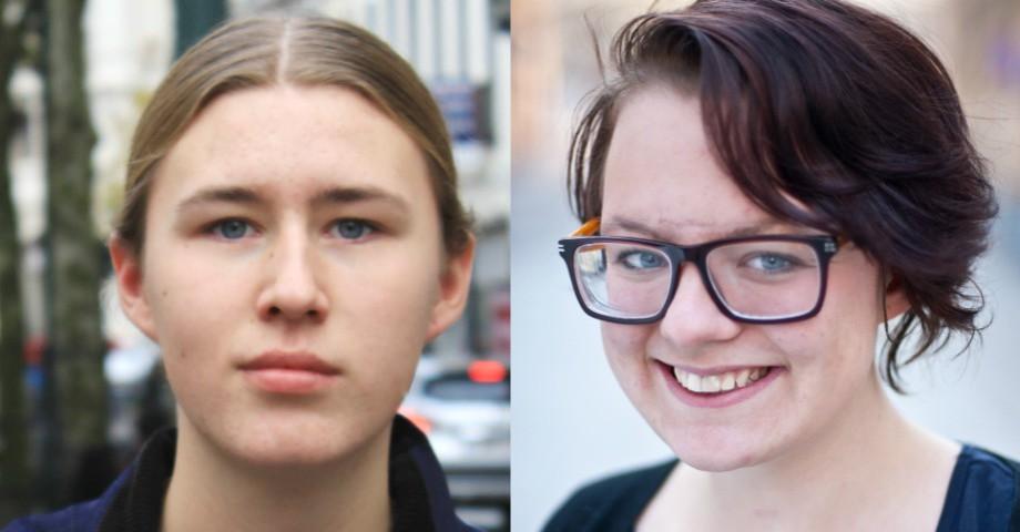 Carolina Bruseman välfärdspolitisk talesperson i Grön Ungdom och Lucas Henriksson Grön Ungdom Väst.