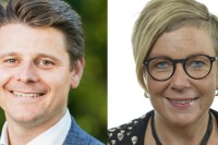 riksdagsledamöterna Niklas Karlsson och Annelie Karlsson (s) samt Magnus Alm, ordförande LO-distriktet i Skåne