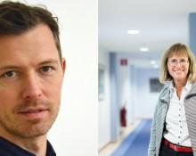 Valter Hultén, makoroekonomisk analytiker Medlingsinstitutet. Th. Carina Gunnarsson, Genarealdirektör, Medlingsinstitutet.