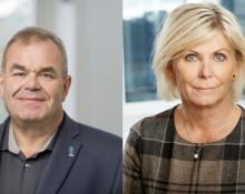Per Persson, avtalssekreterare Hotell- och resturangfacket tv. Eva Östling, ordförande Vista th.