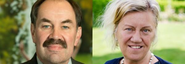 Mats Johansson (S), ordförande region Östergötland och Carina Ödebrink (S) vice ordförande i region Jönköpings län