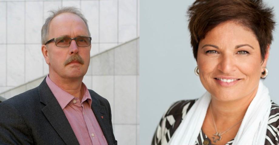 Valle Karlsson, Seko och Sineva Ribeiro, Vårdförbundet. Bild: Seko/Vårdförbundet.