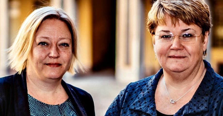 Helen Petterson, förbundsordförande ABF  Monica Widman Lundmark,  förbundssekreterare ABF