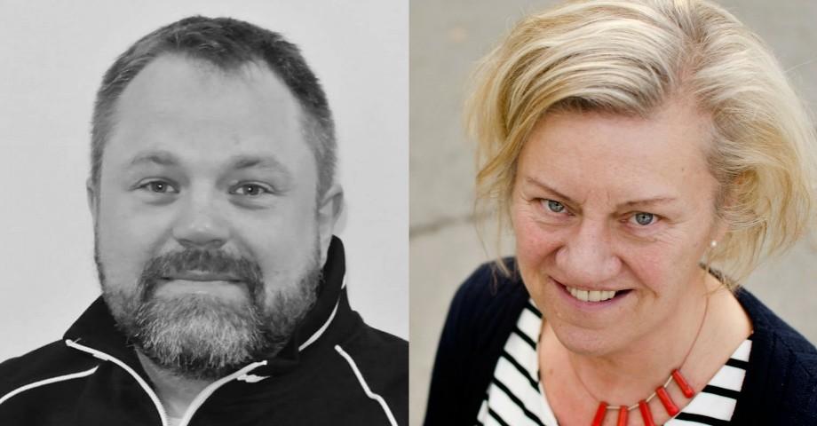 Thomas Olsson, ordförande LO-distriktet i Småland och Blekinge och Carina Ödebrink, ordförande Socialdemokraterna i Jönköpings län