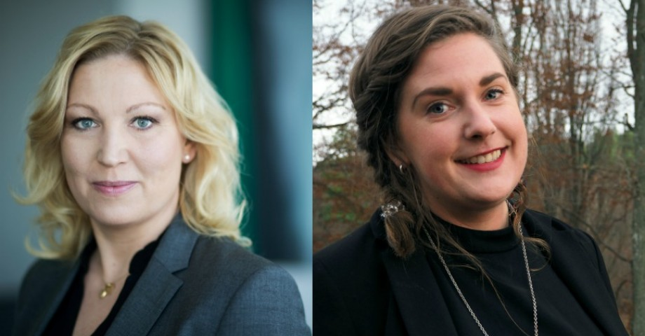 Johanna Jaara Åstrand, förbundsordförande för Lärarförbundet och Matilda Gustafsson, ordförande för Lärarförbundet student