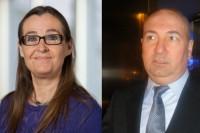 Bodil Valero, EU-parlamentariker för Miljöpartiet de gröna och Kurdo Baksi, samhällsdebattör och författare
