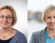 Aleksandra Sjöstrand, UHR och Helene Hellmark Knutsson, minister för högre utbildning. Bild t v: Björn Dahlin.