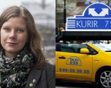 Emma Berginger (MP) kommunalråd i Lund, Taxi Kurir och Taxi 020.Bild: MP och Flickr/Eva the Weaver