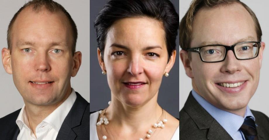 Patrik Mattsson, Dolores Öhman och Daniel Forslund.