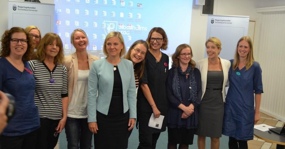 Politiker, barnsköterskor, foskare och familjerådgivare i Rinkeby FOTO: Sebastian Sandström