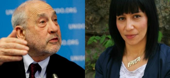 Joseph Stiglitz (t.v.) kommer till Almedalen, det gör inte Rossana Dianmarca. Bilder: UNIDO/Flickr och Mathias Leveborn.