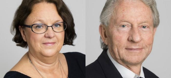 Marie Ljungberg Schött (M), sjukvårdslandstingsråd. Bild: Anna Molander T h: Dan Kareliusson, gruppledare för SD