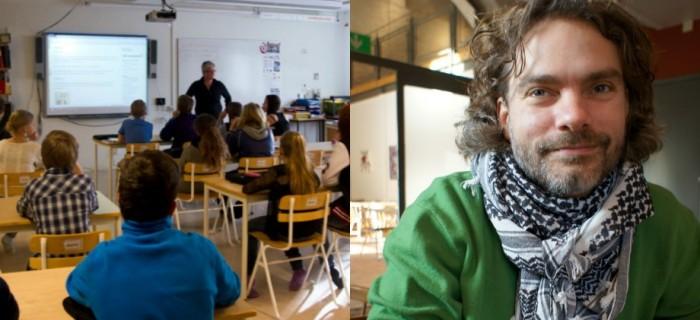 Skolforskaren Christian Lundahl, t.h. Bild: Privat