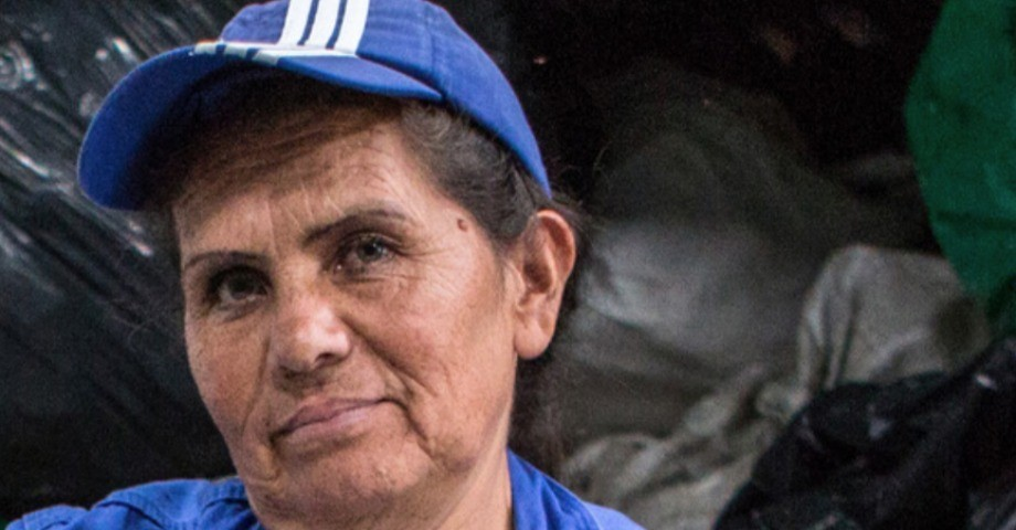Gladys Hernández Alfaro, sopsorterare i Bogotá. Bild: Juan Arredondo (ITUC)