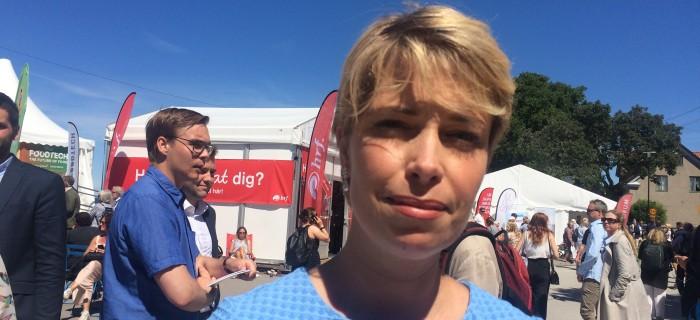 Socialförsäkringsminister Annika Strandhäll (S) i Almedalen.