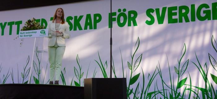 Annie Lööf C  i Almedalen 2017. Foto Jenny Lindahl