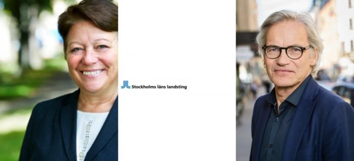 Barbro Naroskyin Hälso- och sjukvårdsdirektör och Johan Bratt avdelningschef , SLL