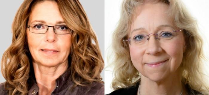 T.v Susanna Skogsberg, Hyresgästföreningen och t.h. Chris Österlund, Botkyrkabyggen.
