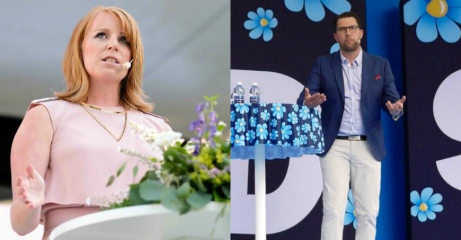 Annie Lööf (C) och Jimmie Åkesson (SD).