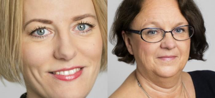 Erika Ullberg (S) och Marie Ljunberg Schött (M).