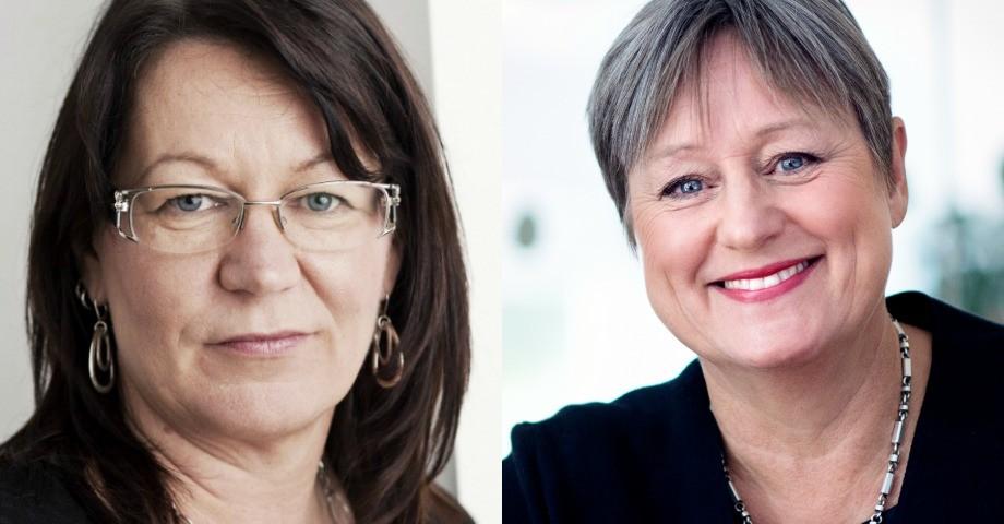 Benita Granlund, Kommunal och Inga-Kari Fryklund, Vårdföretagarna. Bild t.h: Fredrik Welander