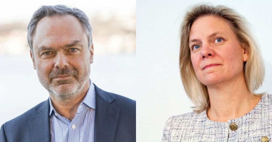 Jan Björklund (L) och Magdalena Andersson (S).