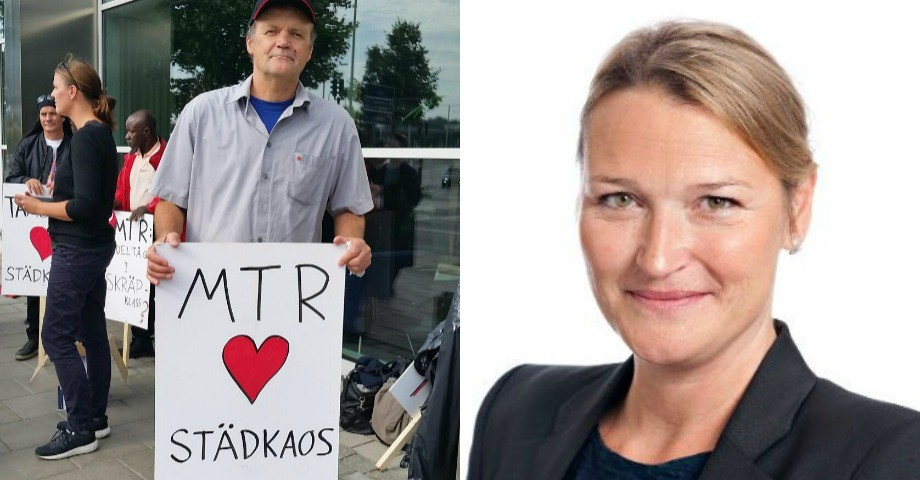 Semsudin Huseinovic, pendelstädare under Sekos protest och Tina Wessman Hellstadius, vd Solreneriet.