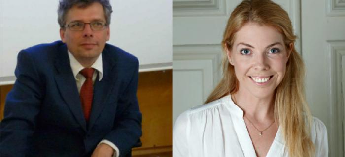 Forskarna Patrik Hall och Louise Bringselius FOTO: privat/press