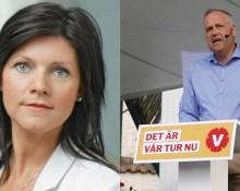 Eva Nordmark, TCO och  Jonas Sjöstedt, Vänsterpartiet. Bild t.h: Jenny Lindahl