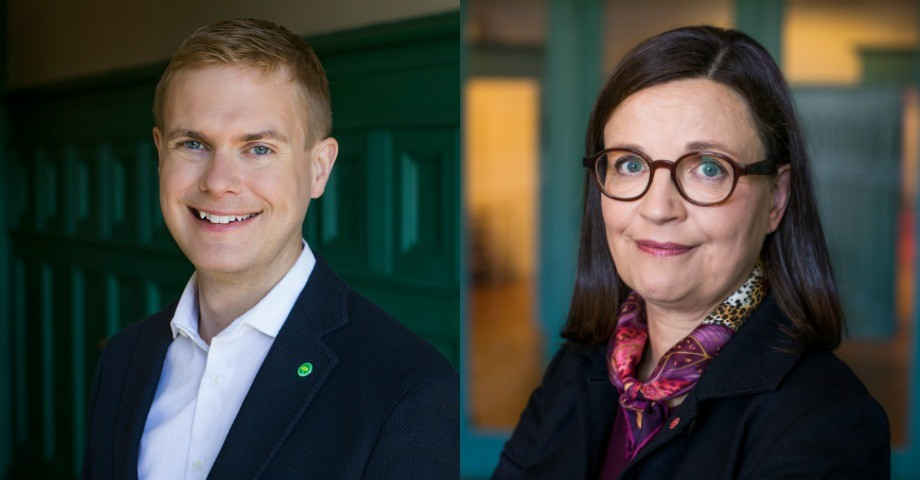 Gustav Fridolin (MP) och Anna Ekström (S). Bilder: Kristian Pohl/Regeringskansliet
