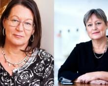Lenita Granlund (tv.), Inga Kari Fryklund (th.) FOTO: press
