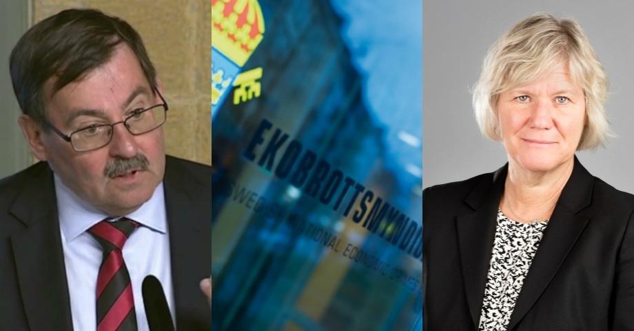 Utredaren Lars-Erik Lövdén t.v. och Ann-Marie Begler, Försäkringskassan t.h.